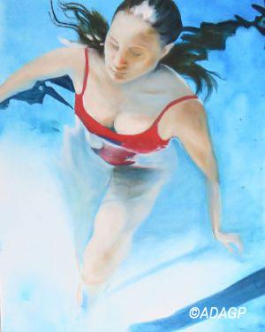 Baigneuse en piscine 2