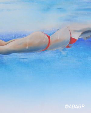 Baigneuse en piscine 1