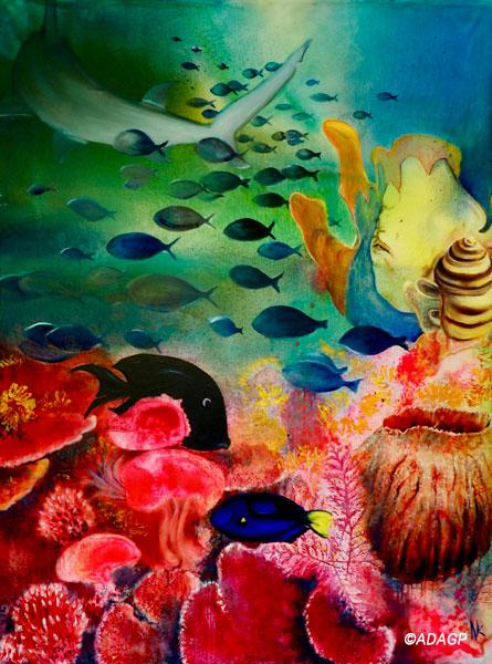 Chaîne trophique sur le récif