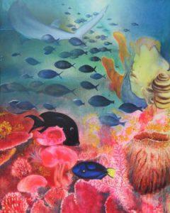 Chaine tropique sur le récif