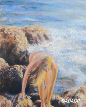 Jeune fille à la mer