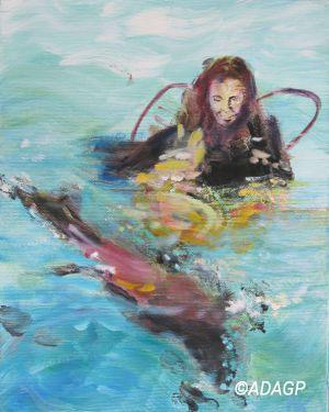 Plongeuse au phoque