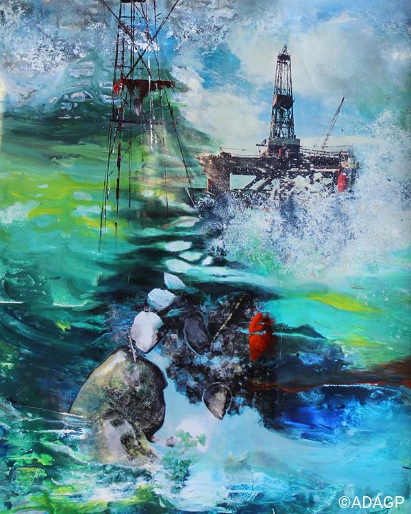 Pollution theme illustration