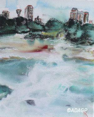 Les Buildings et la chute d'eau (Niagara Falls)